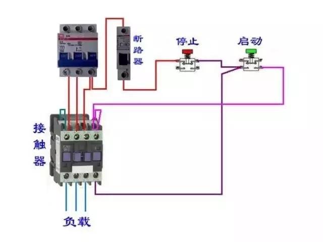 断路器和交流接触器接线图,值得收藏!